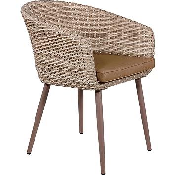 Chaise de jardin esstuhle Cosi Lot de 2imitation bois 56x 61x 85cm en aluminium Marron