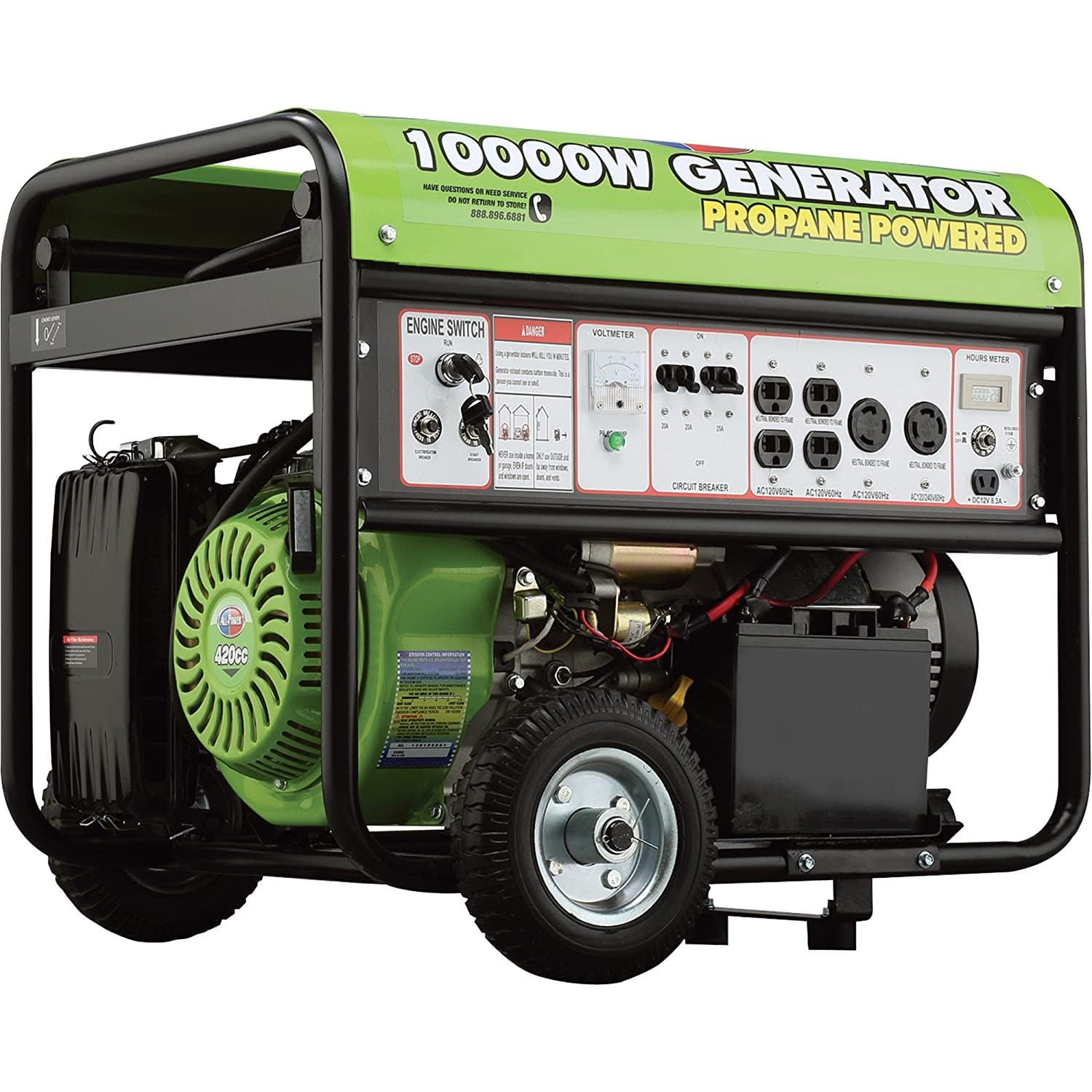 All Power 10 000w Propane Generator 420cc Watt LP ELECTRIC