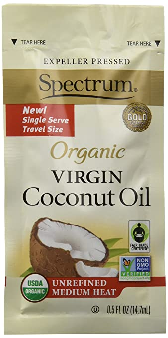 Spectrum Naturals Organic Unrefined Virgin Coconut Oil Packets