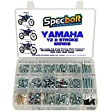 250pc Specbolt Bolt Kit for Yamaha YZ 80 85 125 250. for Maintenance Upkeep and Partial Restoration. OEM Spec Fasteners YZ80 YZ85 YZ125 YZ250 (Color: BRILLIANT SILVER ZINC, Tamaño: 250 PIECES FACTORY SIZE HARDWARE)