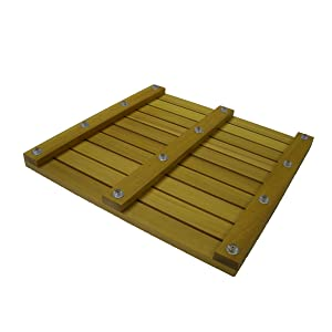 18 X 18 Square Western Red Cedar Floor Mat with Interior Lacquer Finish by Cedar Delite
