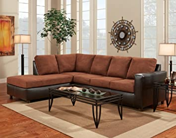 Chelsea Home Furniture Harford 2-Piece sectional, Aruba Chocolate
