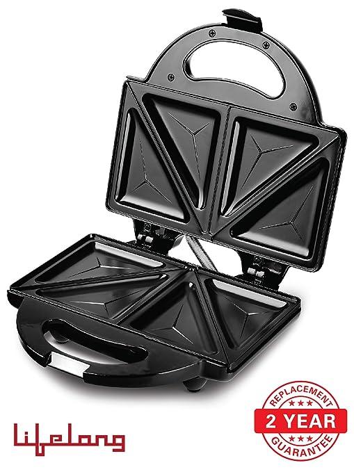 Lifelong Traingle Plate Grill-It-115 750-Watt Sandwich Maker, Black at amazon