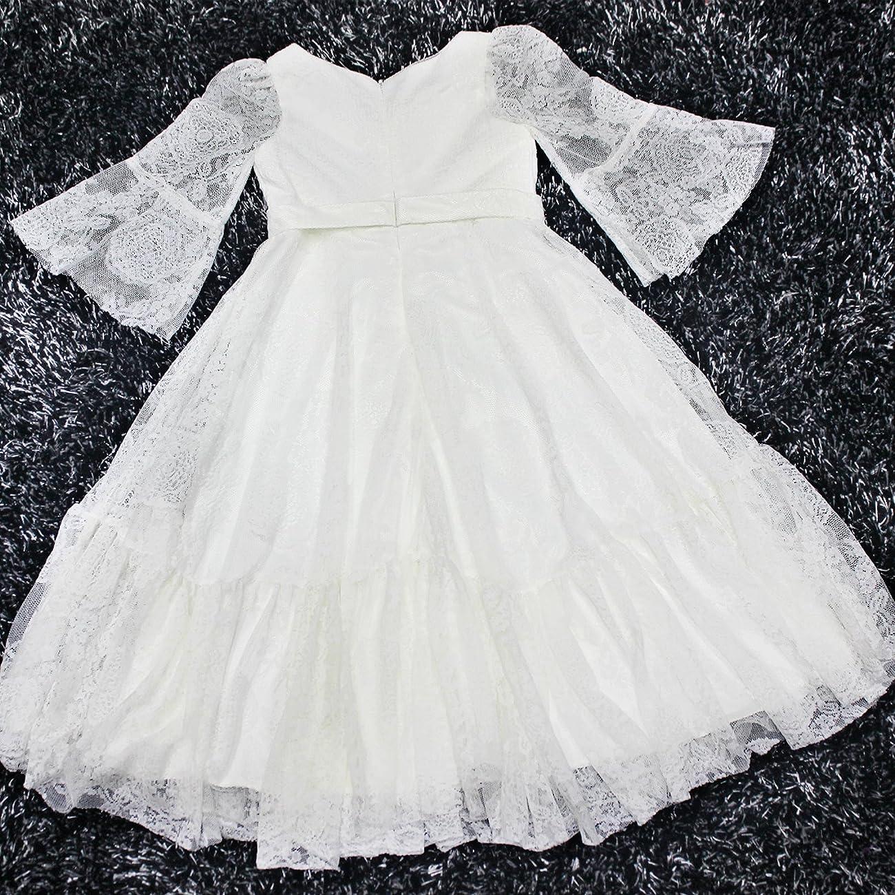 Fancy A-line Lace Flower Girl Dress 2-12 Year Old 4