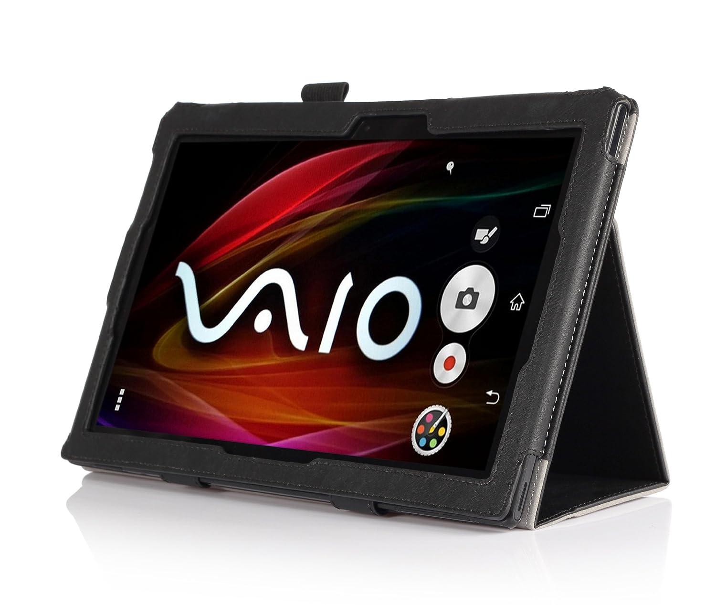 XperiaZ2 Tablet 高級牛革調ソフトレザーケース 3点セット