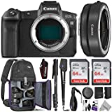 Canon EOS R Mirrorless Digital Camera Body w/Canon Mount Adapter EF-EOS R & Advanced Photo and Travel Bundle - Includes Canon USA Warranty, Altura Photo Backpack, 2pcs SanDisk 64gb SD Card, Monopod (Tamaño: Body + EF Adapter)