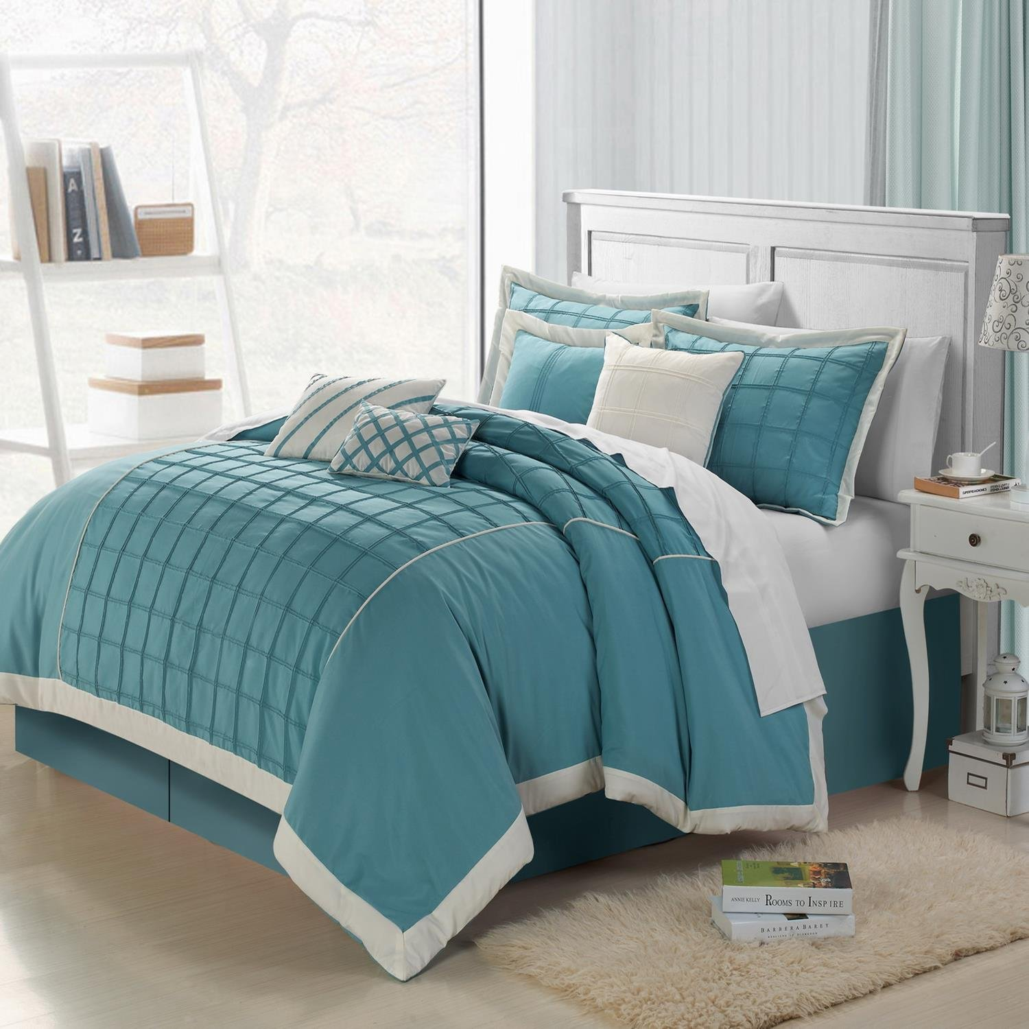 Aqua Bedspread King Images