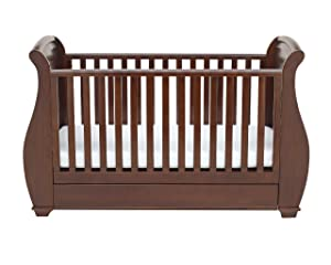 Babymore Bel Sleigh Cot Bed Dropside With Drawer (Dark Brown Finish) + FOAM MATTRESS       BabyCustomer review