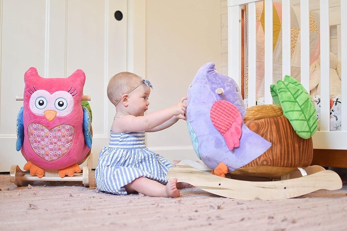 Rockabye Owlivia Pink Owl Rocker, One Size