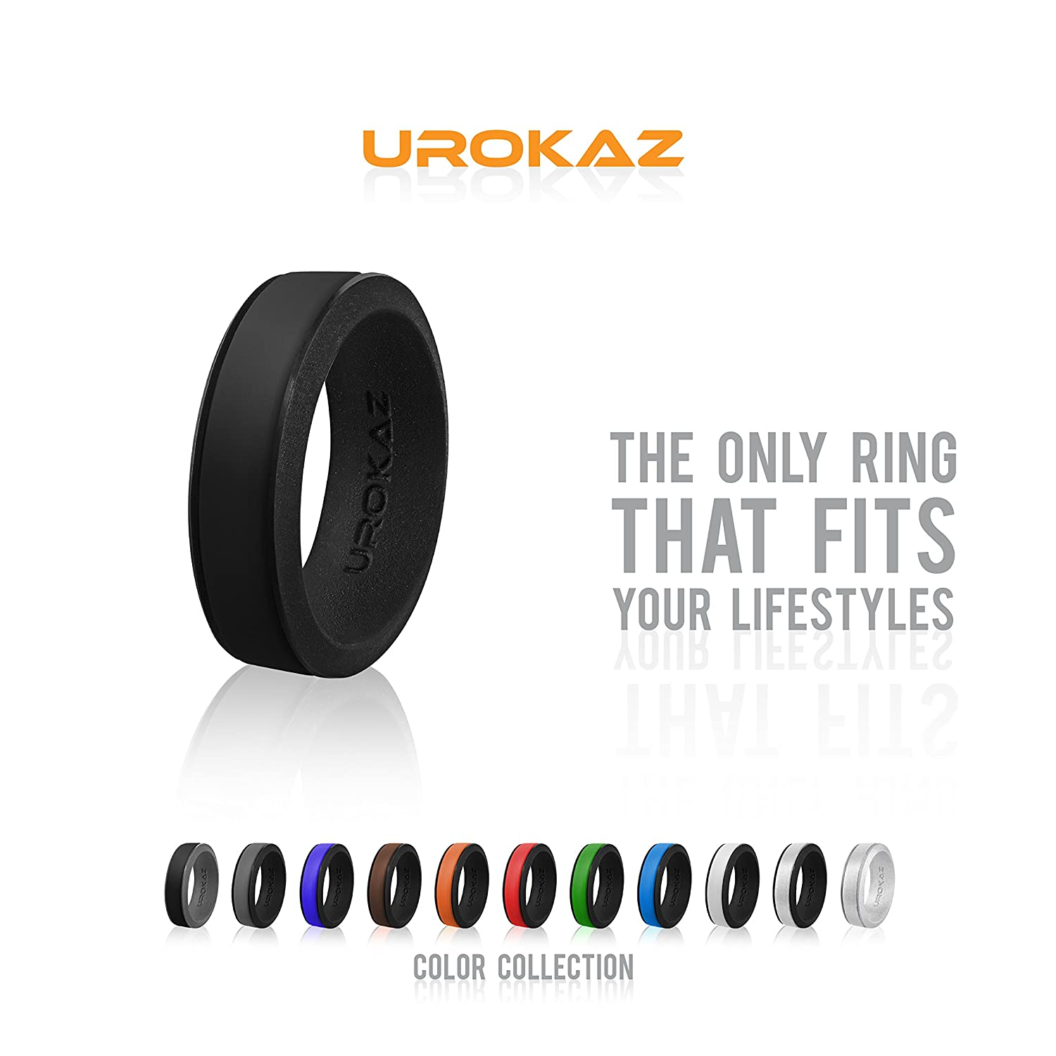 UROKAZ - Silicone Fashion Rings, The Only Ring that Fits Your Lifestyles - Whether You are Single or Married, UROKAZ Ring is Right for You - It is Fashionable, Flexible, and Comfortable
