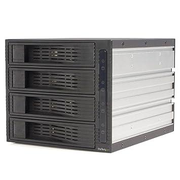 """StarTech.com HSB430SATBK Rack Amovible 3 x 5.25"""" sans Tiroir pour 4 Disques Durs 3.5"""" Face Arrière 3 x 5.25 pouces Exhangeable à Chaud Hot Swap"""
