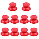 BronaGrand 5 Pairs Red Replacement Analog Stick Thumbsticks Thumb Stick Joystick for Playstation 4 PS4 Controller (Color: Red)