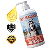 All Natural & Pure Wild Alaskan Salmon Oil for Dogs, Cats and Horses | Rich in EPA + DHA | Anti inflammatory | Supports Joint Function | Skin & Coat | Non GMO | cGMP Certified | Made in USA (16 oz) (Tamaño: 16 oz)