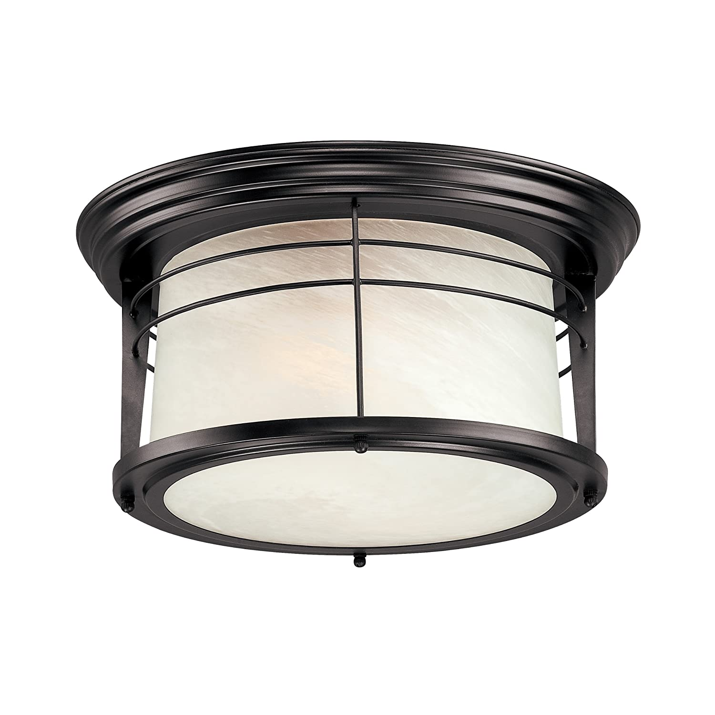 Westinghouse 6674600 senecaville two light exterior flush mount fixture weather ebay for Exterior flush mount light fixtures