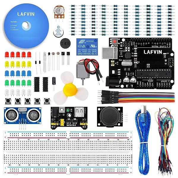 LAFVIN The Basic Starter kit for Arduino R3, Breadboard, LED ... on arduino motor, arduino switch, arduino thermostat, arduino sensors, arduino starter kit, arduino thermistor, arduino transistor, arduino car, arduino program, arduino display, arduino thermocouple, arduino radar, arduino computer, arduino schematic, arduino blink, arduino breadboard, arduino circuit, arduino garden, arduino solenoid, arduino pins,