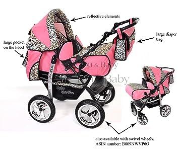Info boutique Baby Sportive - Landau pour bébé + Siège Auto - Poussette  - Système 3en1, incluant sac à langer et protection pluie et moustique -  ROUES ... 6b39469cf91