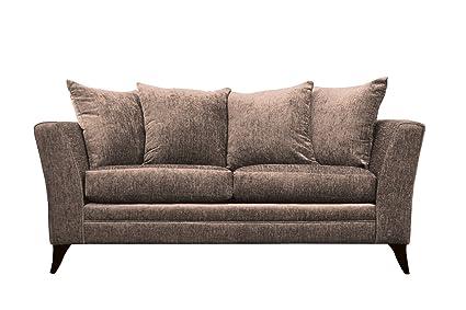 Essex 3-asiento de sofá gris de la tela