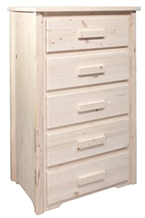 Montana Woodworks Homestead Collection 5-Drawer Chest of Drawers, Ready to Finish