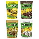 Barnana Organic Chewy Banana Bites Variety Pack, 4 Count