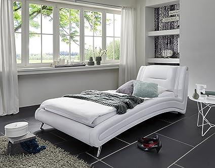 SAM® Polsterbett Design Bett Silva weiß 90 x 200 cm exklusiv komfortabel Polster