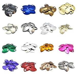 Large Scalemail Armor Scales - Anodized Aluminum in Multiple Colors (Random Mix) (Color: Random Mix)