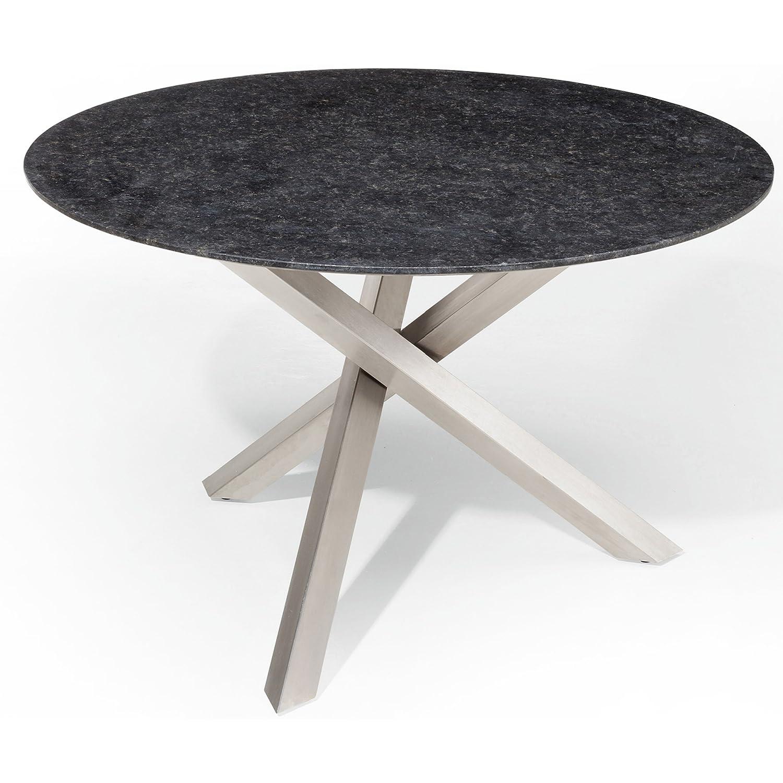 Studio 20 Gartentisch Gigi Granitplatte rund ø 140 cm Outdoortisch Granittisch Tischplatte Pearl grey satiniert online kaufen