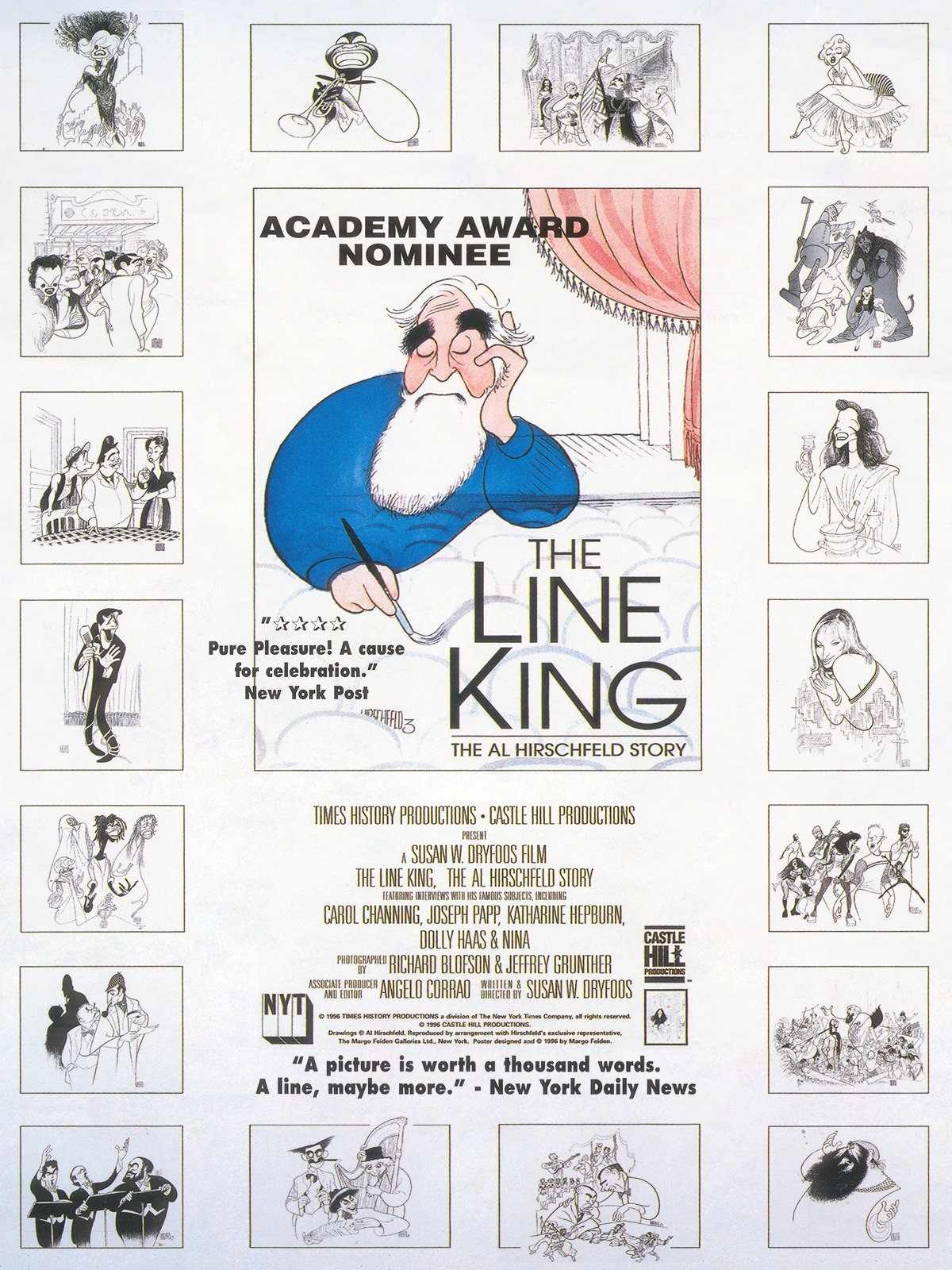 The Line King: The Al Hirschfeld Story on Amazon Prime Instant Video UK