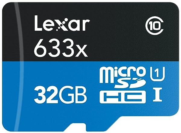Lexar High-Performance 633x 32GB microSDHC UHS-I Card (Color: black, Tamaño: 32GB)