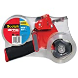 Scotch® Tape Dispenser With 2 Rolls Of Heavy-Duty Shipping Tape, Clear Model # 3850-2ST