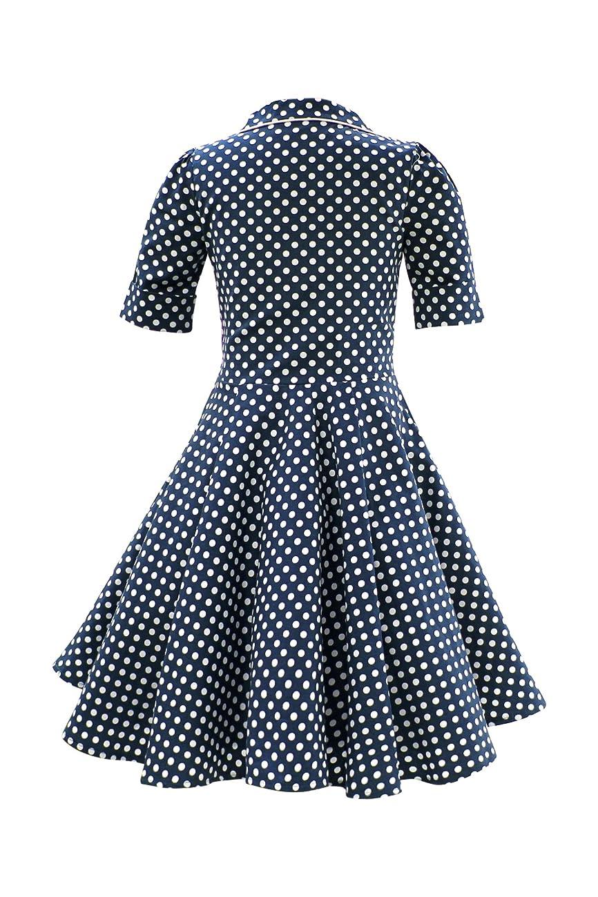 BlackButterfly Kids 'Sabrina' Vintage Polka Dot 50's Dress 2