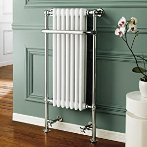 Traditional White Radiator Heated Bathroom Chrome Towel Rail with 7 Columns RT10  iBath       reviews
