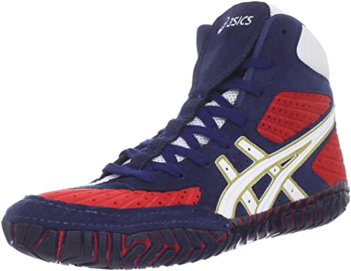 White And Red Asics Wrestling Shoes Shoe,navy/white/red,14