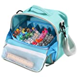 Togood Storage Tote Bag for Marker Pens Brush Pen Coloring Pencils Books Art and Crafts Supplies Tools Cosmetics, Up to 130 Pens,Light Green (Color: Light Green)