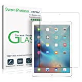 iPad Pro 12.9 Screen Protector Glass, 1st and 2nd Generation Tempered Glass Screen Protector for Apple iPad Pro 2015 0.33mm 2.5D Rounded Edge (1-Pack) 2015, 2017 (Color: Ultra-Clear Glass, Tamaño: iPad Pro)