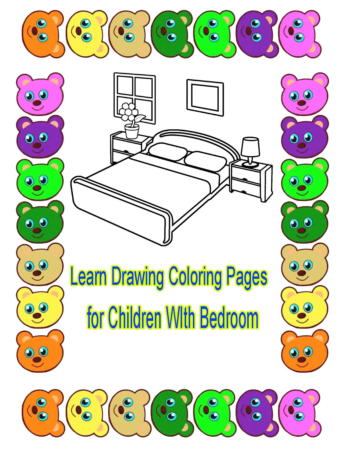 Learn Drawing Coloring Pages for Children WIth Bedroom
