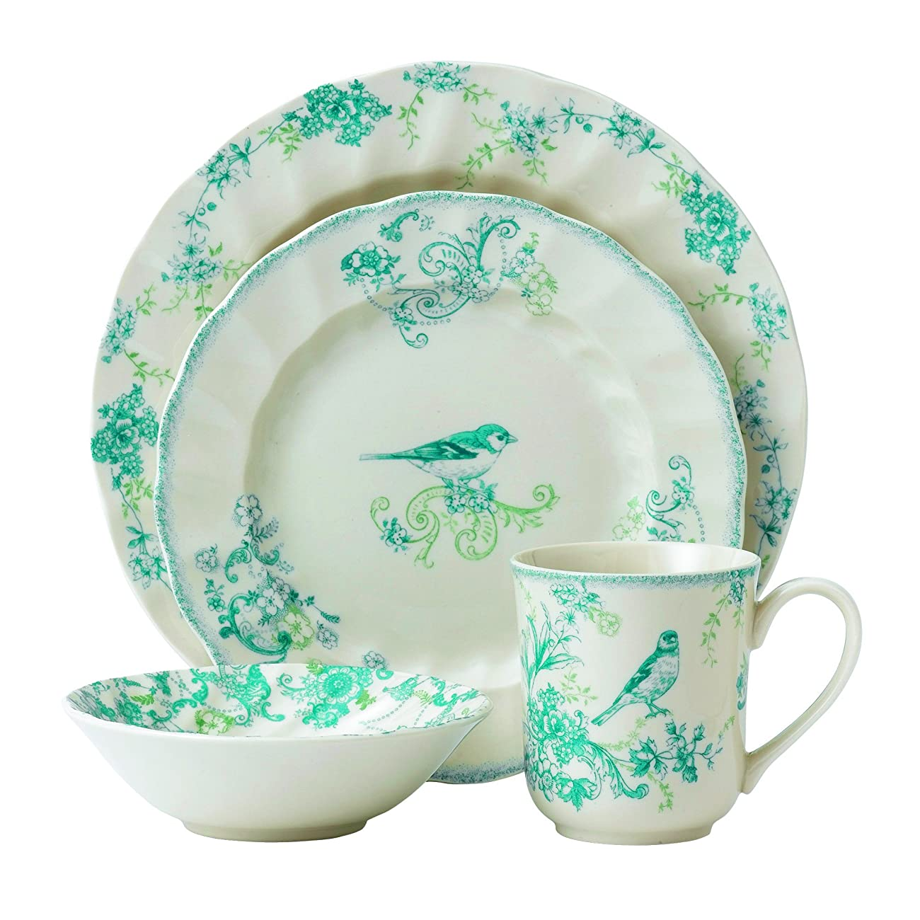 Johnson Brothers Vintage Charm 4 Piece Place Set, Multicolored 0