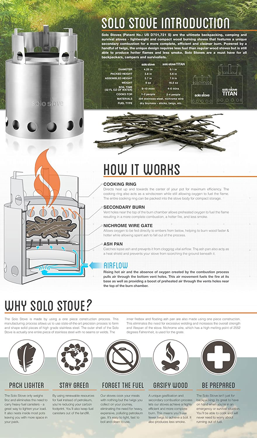 Solo Stove Wood Burning Camping Stove