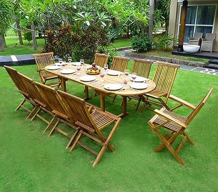 Gartenmöbel-Set fur 8-10 Personen, 2er-Set