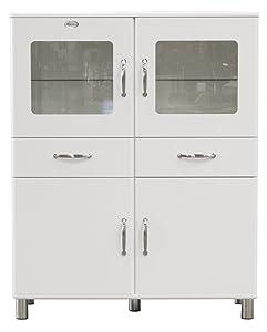 Tenzo 5237005 Malibu  Designer Doppelvitrine / Schrank 150 x 120 x 44 cm, MDF lackiert, weiß  Kundenbewertung und weitere Informationen