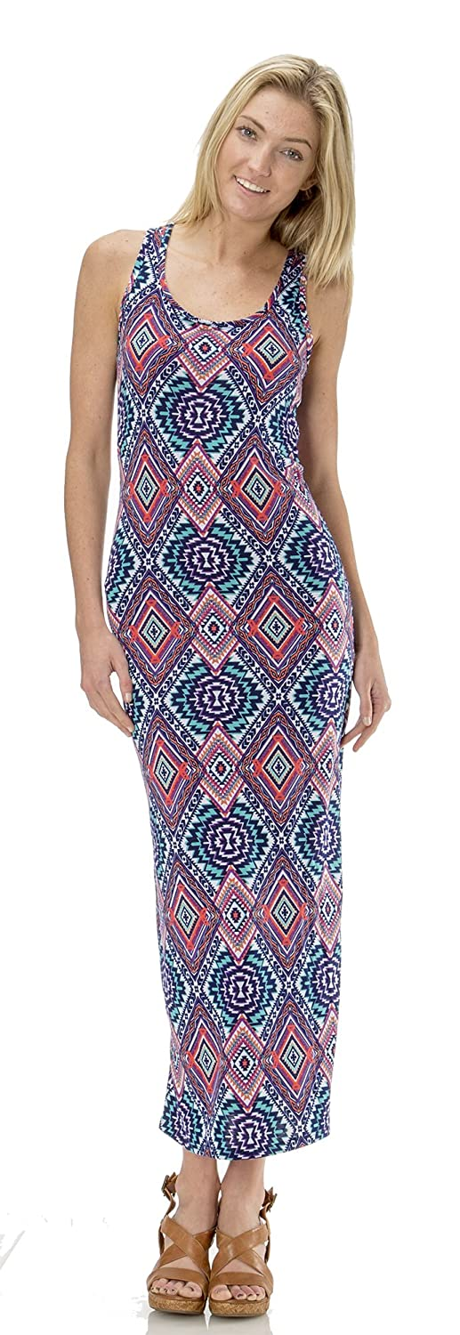 Classic Designs Womens Stretch Jersey Racerback Maxi Dress / Cover Up