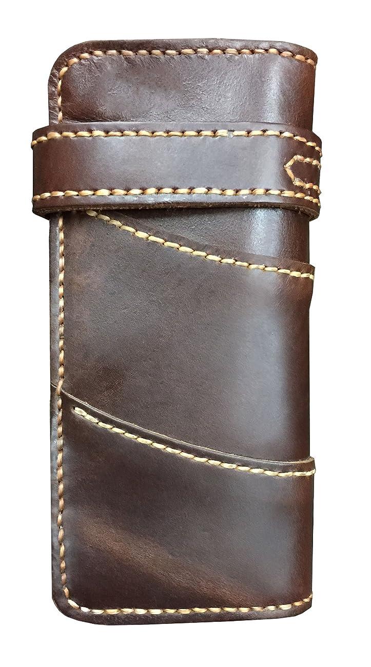 D'SHARK Men's Vintage Biker Genuine Leather Billfold Wallet 1
