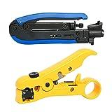 YaeTek RG59 RG6 RG11 Compression Tool Coax Coaxial Cable (Color: 2PC)