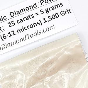 TechDiamondTools Diamond Powder 1.500 Grit 6-12 Microns -25ct,= 5 Grams (Color: 25 carats-5 grams, Tamaño: 1,500 grit / 6 - 12 microns)