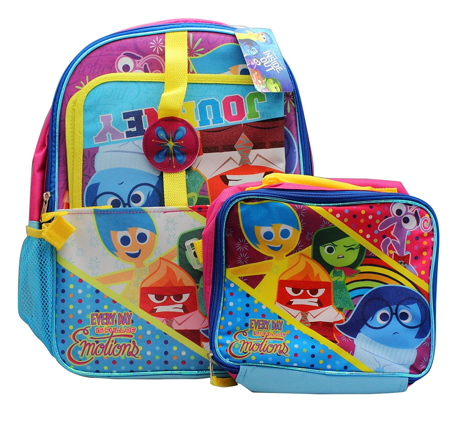 """Disney Inside Out 15"""" School Backpack, Detachable Lunch ..."""