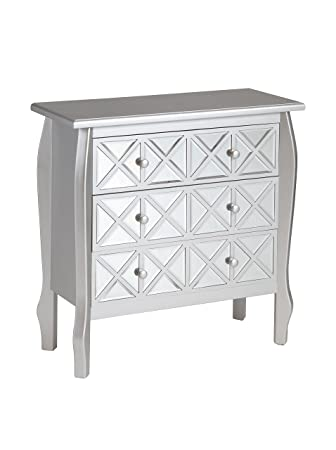 Silver cabinet with mirrors