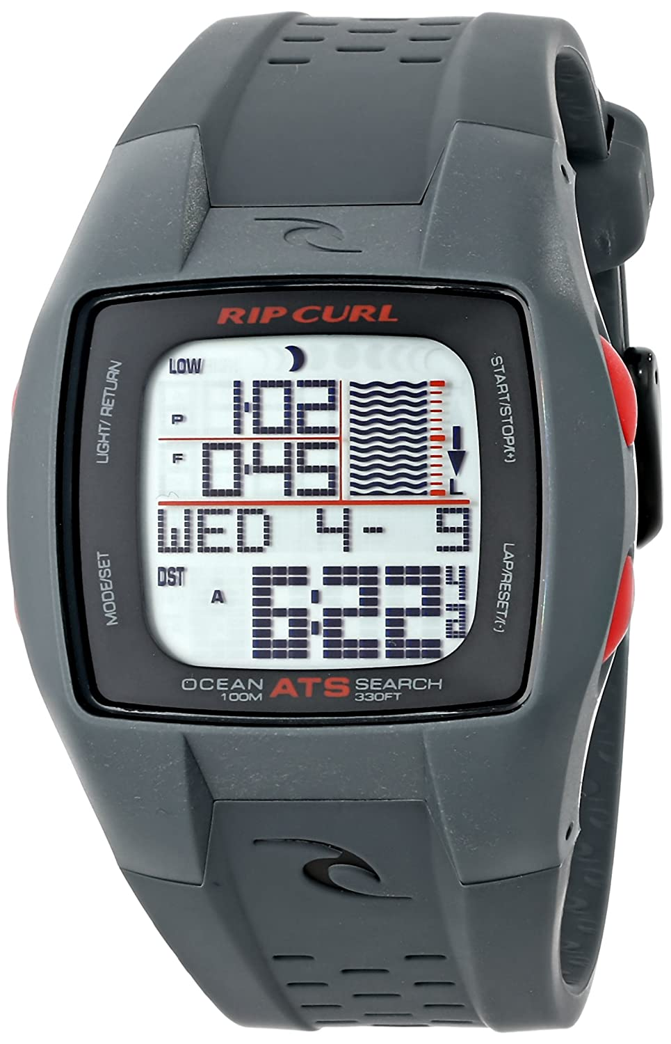 Rip Curl Men's A1015 Trestles Oceansearch Surf Watch with Grey Band велошлем bbb tribase белый us m bhe 61