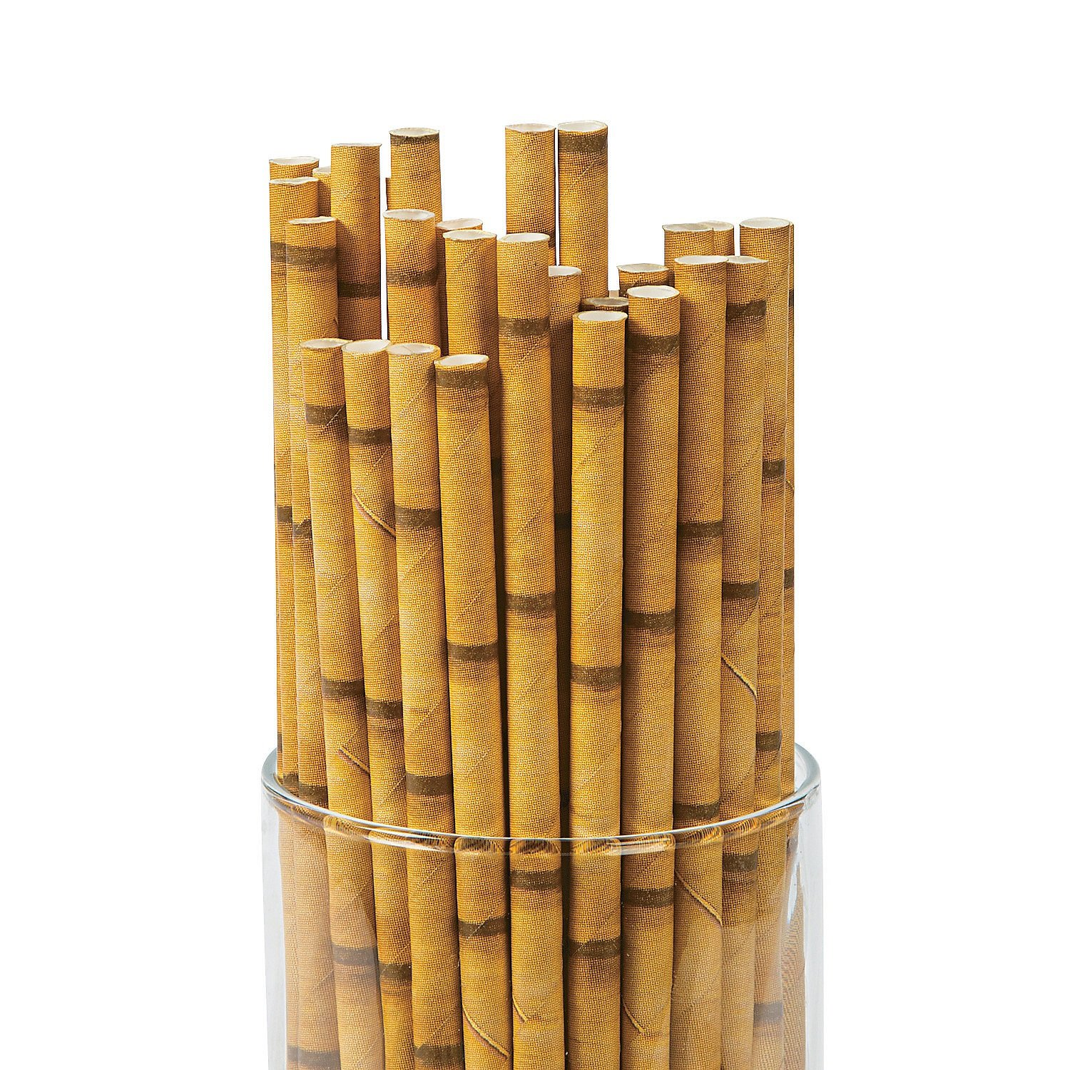 Paper Bamboo Straws Bamboo Paper Straws 24 Pack