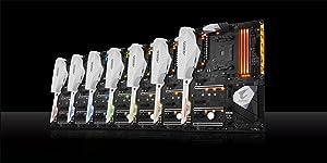 GIGABYTE AORUS GA-AX370-Gaming 5 (AMD Ryzen AM4/X370/RGB FUSION/SMART FAN 5/HDMI/M.2/U.2/USB 3.1 Type-C/ATX/DDR4/Motherboard) (Tamaño: Motherboard)
