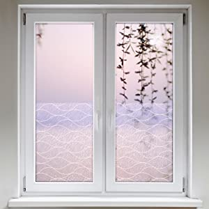 Artefact® Dekofolie / Fensterfolie Linien Beige | statisch haftend (ohne Kleber) | verschiedene Größen  BaumarktRezension