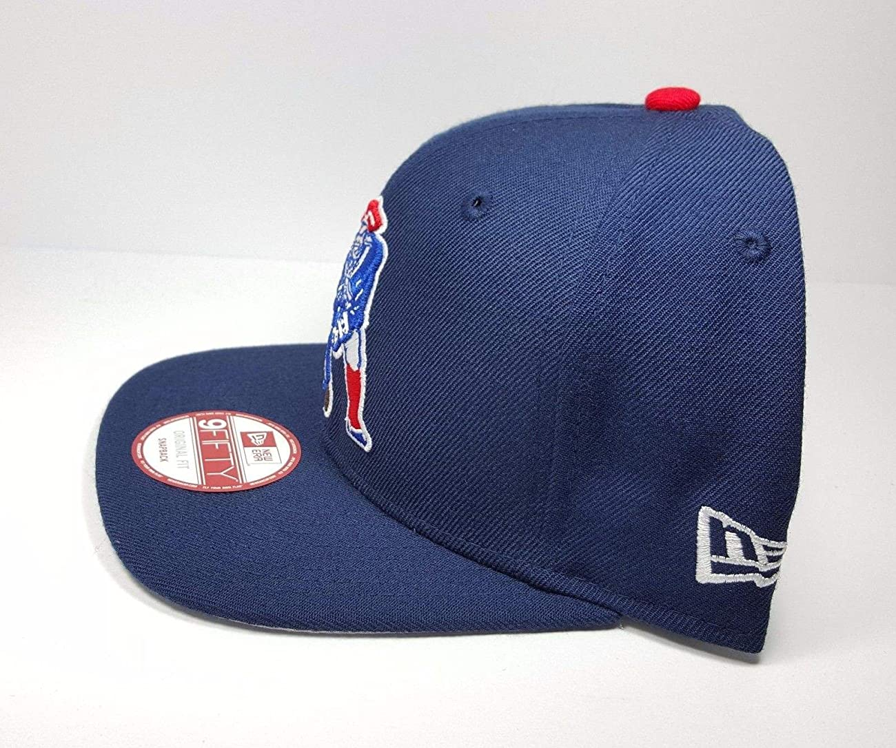 New Era New England Patriots 9Fifty Vintage Throwback Navy Blue Logo Adjustable Snapback Hat NFL 1